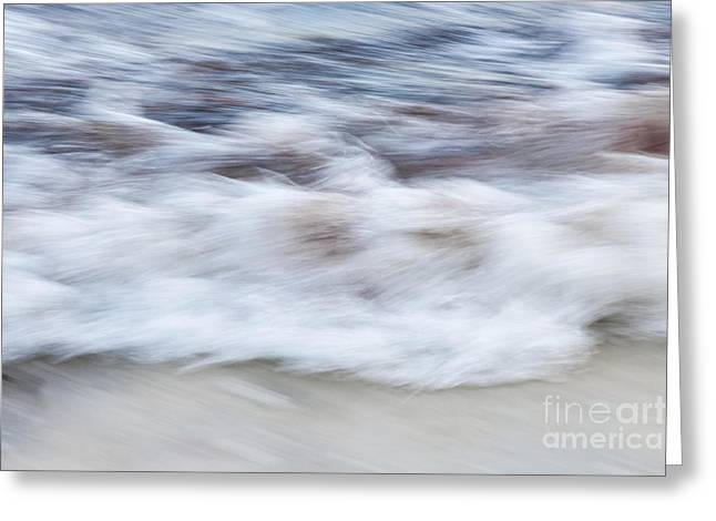 Blurred Motion Greeting Cards - Surf abstract 2 Greeting Card by Elena Elisseeva