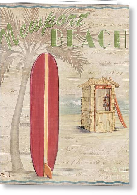 Surf City Greeting Cards - Surf City I Greeting Card by Paul Brent