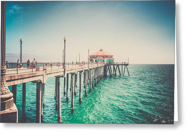 Surf City Greeting Cards - Surf City Memories Greeting Card by Spencer McDonald