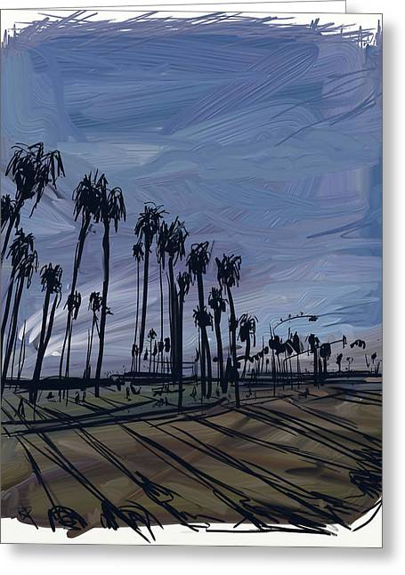 Surf City Digital Greeting Cards - Surf City Greeting Card by Russell Pierce