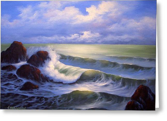 Surf Melody Greeting Card by Francine Henderson