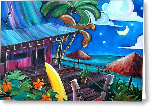 Surf Shack Greeting Card by Jerri Grindle