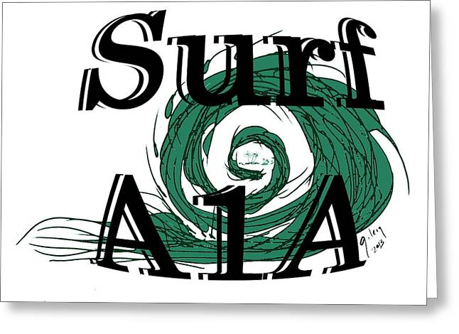 Melbourne Beach Greeting Cards - Surf sign Greeting Card by W Gilroy
