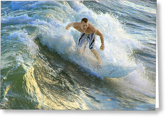 Dangerous Talent Greeting Cards - Surfer 5699 Greeting Card by Francesa Miller