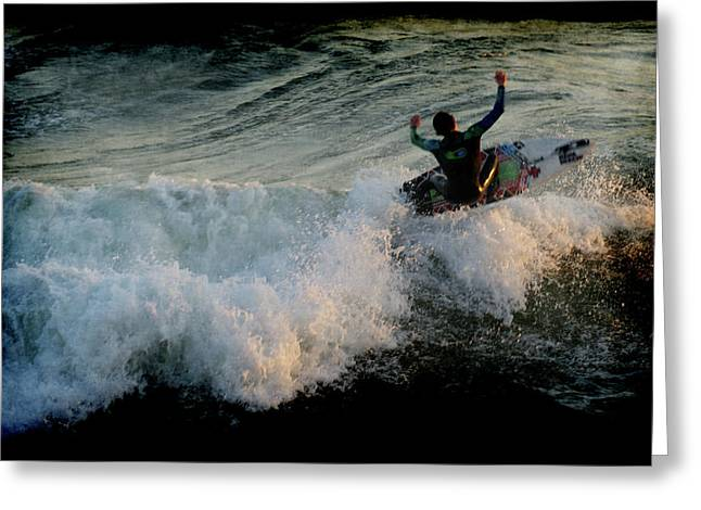 Calif Greeting Cards - Surfer Greeting Card by Ernie Echols