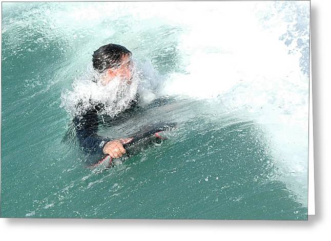 Californian Greeting Cards - Surfer Facing Water Greeting Card by Clarence Alford