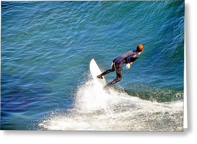 Surfer, Steamer Lane, Santa Cruz, Series 19 Greeting Card by Antonia Citrino