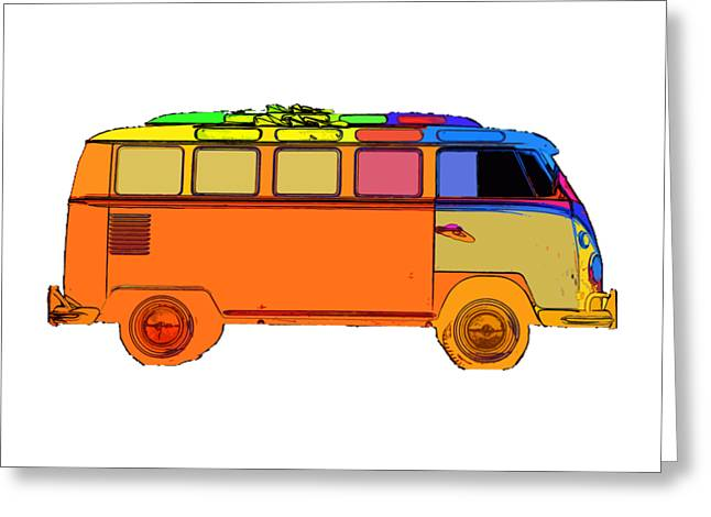 T Shirts Photographs Greeting Cards - Surfer Van Transparent Greeting Card by Edward Fielding
