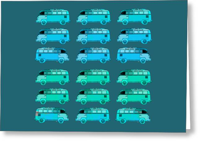 T Shirts Greeting Cards - Surfer Vans Pattern Greeting Card by Edward Fielding