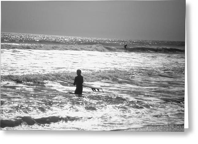Surfers Greeting Card by Utopia Concepts