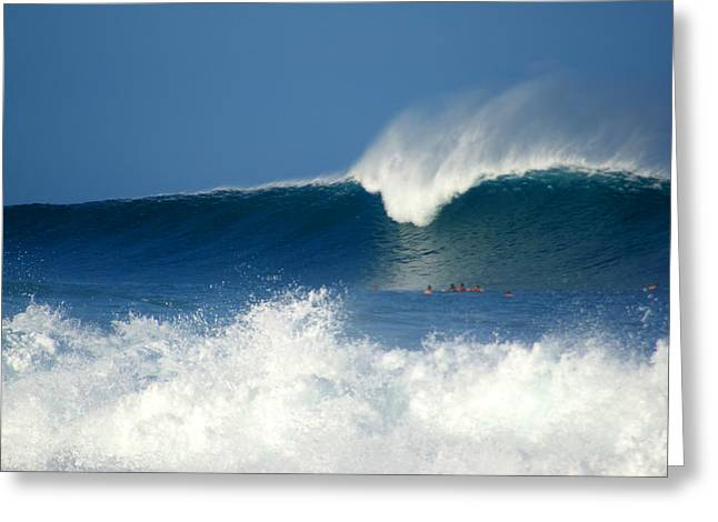Rock Pile Greeting Cards - Surfers Respect Greeting Card by Kevin Smith