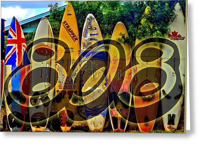 Recently Sold -  - North Sea Greeting Cards - Surfin 808 Greeting Card by DJ Florek