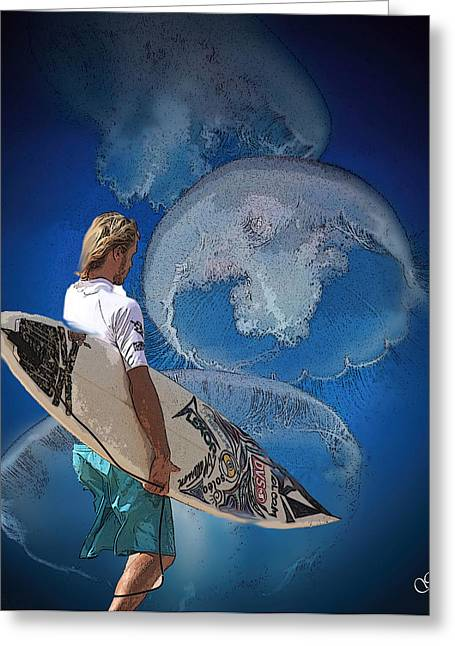 Surfin Greeting Cards - Surfin  Greeting Card by Julie  Grace