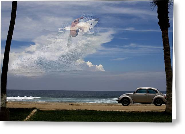 Surfin The Sky 02 Greeting Card by Obi Martinez