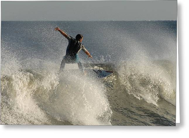 Kahuna Beach Greeting Cards - Surfing 122 Greeting Card by Joyce StJames