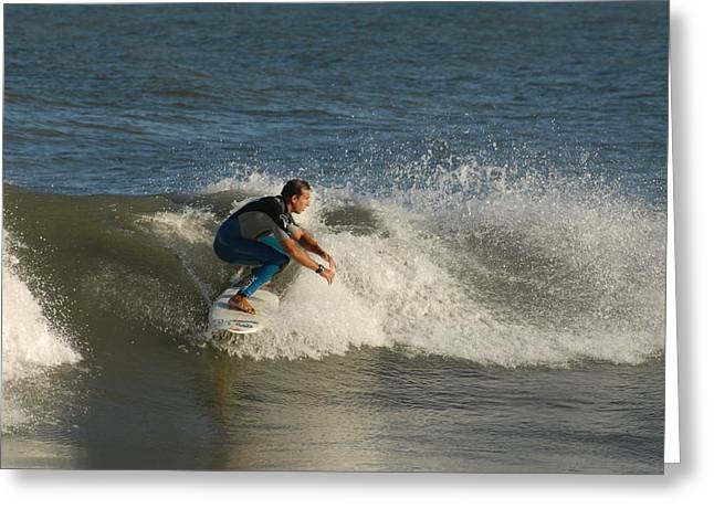 Kahuna Beach Greeting Cards - Surfing 126 Greeting Card by Joyce StJames