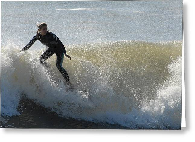 Surfing Photos Greeting Cards - Surfing 35 Greeting Card by Joyce StJames