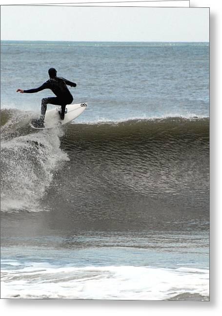 Surfer Art Greeting Cards - Surfing 56 Greeting Card by Joyce StJames