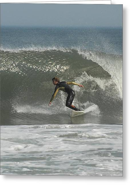 Surfing Photos Greeting Cards - Surfing 7 Greeting Card by Joyce StJames