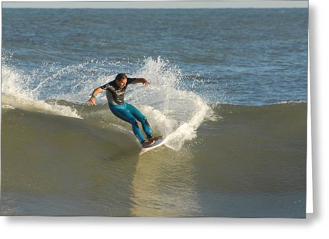 Kahuna Beach Greeting Cards - Surfing 96 Greeting Card by Joyce StJames