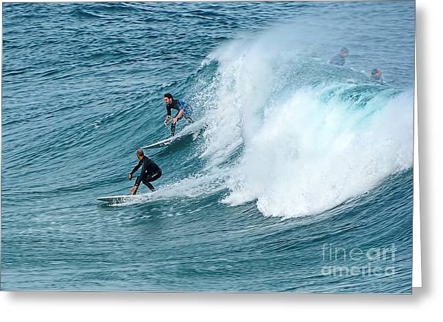 Surfing Fun By Kaye Menner Greeting Card by Kaye Menner