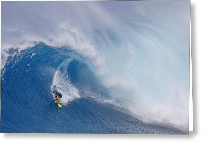 Surfing Jaws Greeting Card by Peter Stahl