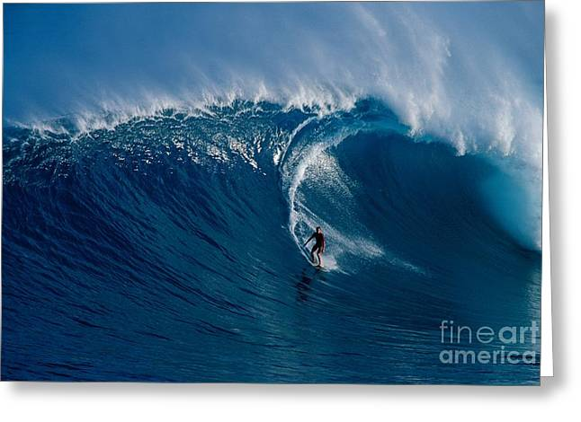 Surfing Art Greeting Cards - Surfing Jaws Greeting Card by Ron Dahlquist - Printscapes