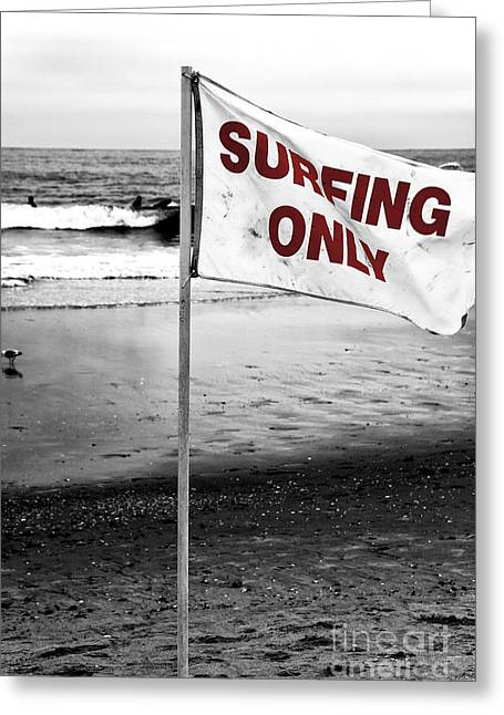 Surfing Photos Greeting Cards - Surfing Only Fusion Greeting Card by John Rizzuto