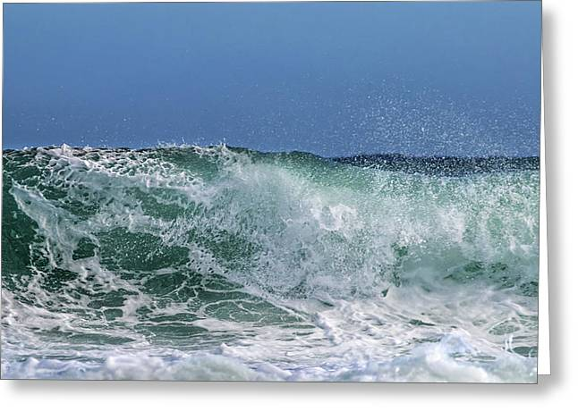Surfing Out  Greeting Card by Stelios Kleanthous