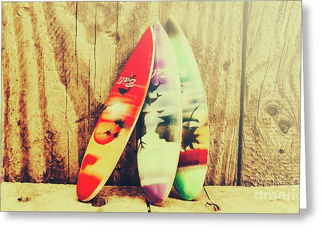 Surfing Still Life Artwork Greeting Card by Jorgo Photography - Wall Art Gallery