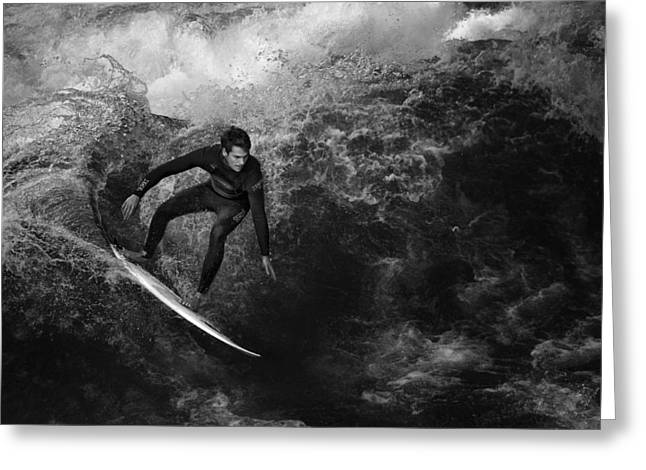 Actions Photographs Greeting Cards - Surfing To Kingdom Come Greeting Card by Christoph Hessel