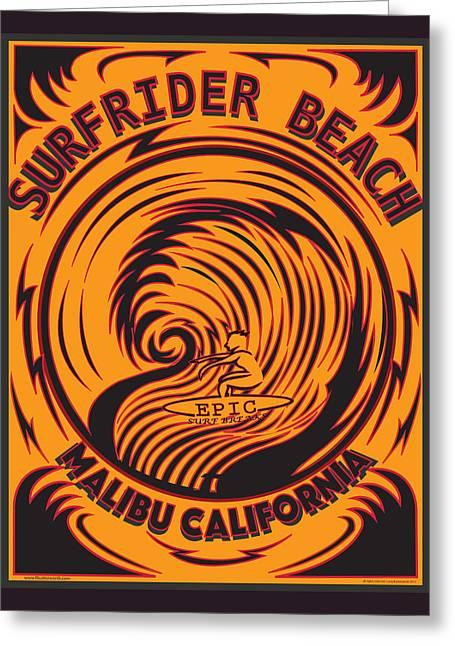 Surfrider Beach Malibu California Greeting Card by Larry Butterworth