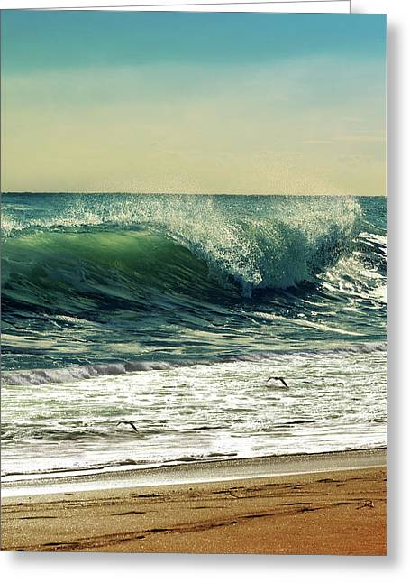 Surf's Up Greeting Card by Laura Fasulo