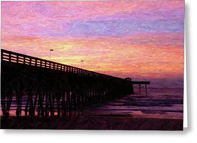 Al Powell Photography Usa Greeting Cards - Surfside Sunrise - Digital Art Greeting Card by Al Powell Photography USA