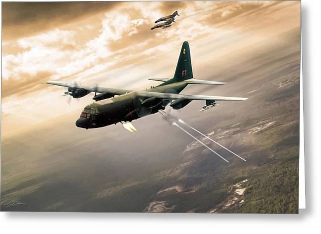 Ac-130 Greeting Cards - Surprise Package Greeting Card by Peter Chilelli