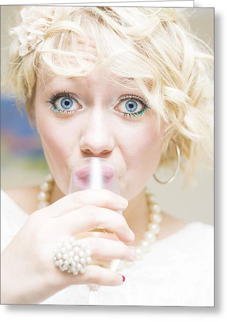 Surprise Party Girl Greeting Card by Jorgo Photography - Wall Art Gallery