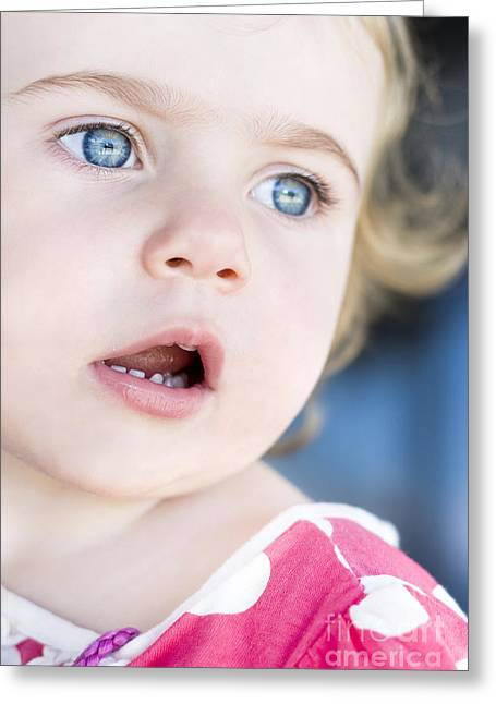 Surprised Child Greeting Card by Jorgo Photography - Wall Art Gallery