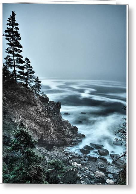 Maine Ocean Greeting Cards - Surreal Acadia Greeting Card by Chad Tracy