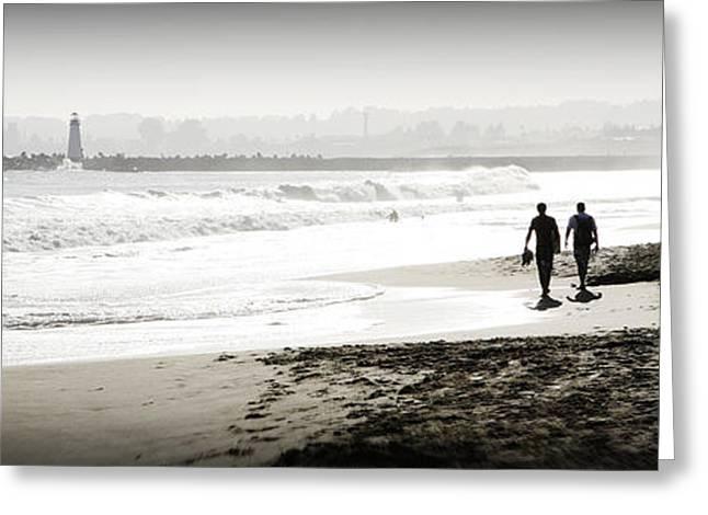 Santa Cruz Greeting Cards - Surreal Beach Greeting Card by Marilyn Hunt