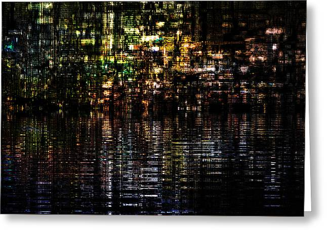 Urban Images Greeting Cards - Surreal Evening Greeting Card by Kiki Art