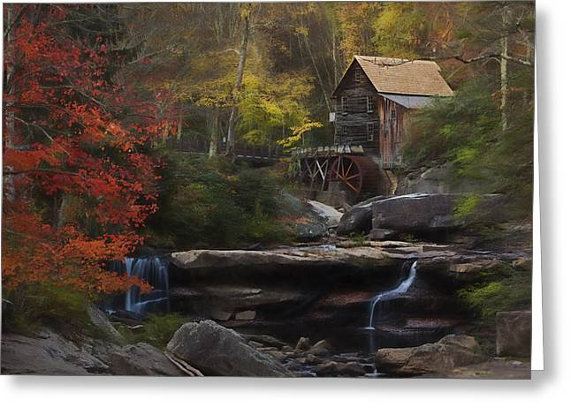 Surreal Glade Creek Greeting Card by Jonas Wingfield