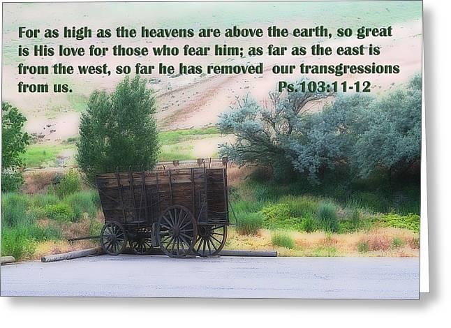 Wagon Wheels Digital Art Greeting Cards - Surreal Old Wagon Ps.103 v 11-12 Greeting Card by Linda Phelps