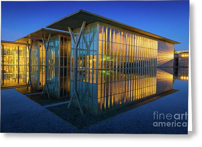 Glasses Reflecting Greeting Cards - Surreal Reflection Greeting Card by Inge Johnsson