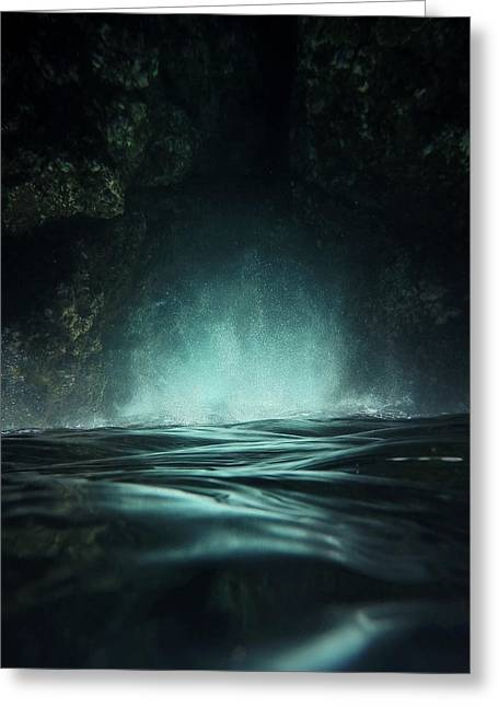 Mysterious Greeting Card featuring the photograph Surreal Sea by Nicklas Gustafsson