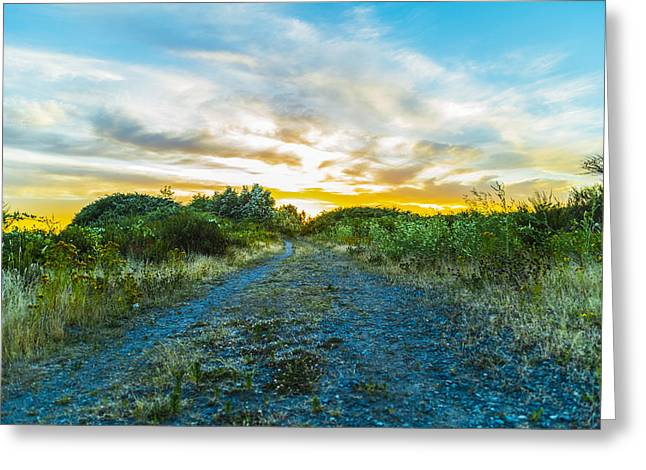 Surreal Landscape Greeting Cards - Surreal sunset Greeting Card by Elmir Valley