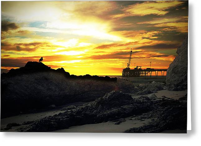 Surreal Landscape Greeting Cards - Surreal Sunset Greeting Card by John A Royston