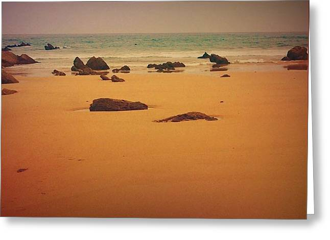 Surrealistic Beach Greeting Card by Contemporary Art