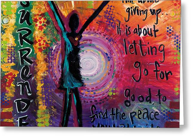 Portal Greeting Cards - Surrender Greeting Card by Allison Crow
