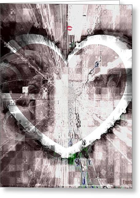 Serve Mixed Media Greeting Cards - Surrender Greeting Card by Fania Simon