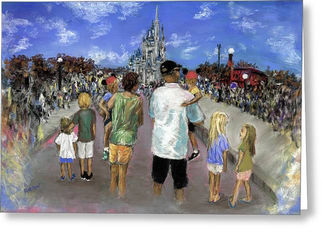 Main Street Pastels Greeting Cards - Surrounded by the Magic Greeting Card by Barry Rothstein